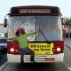 Creative bus advertising