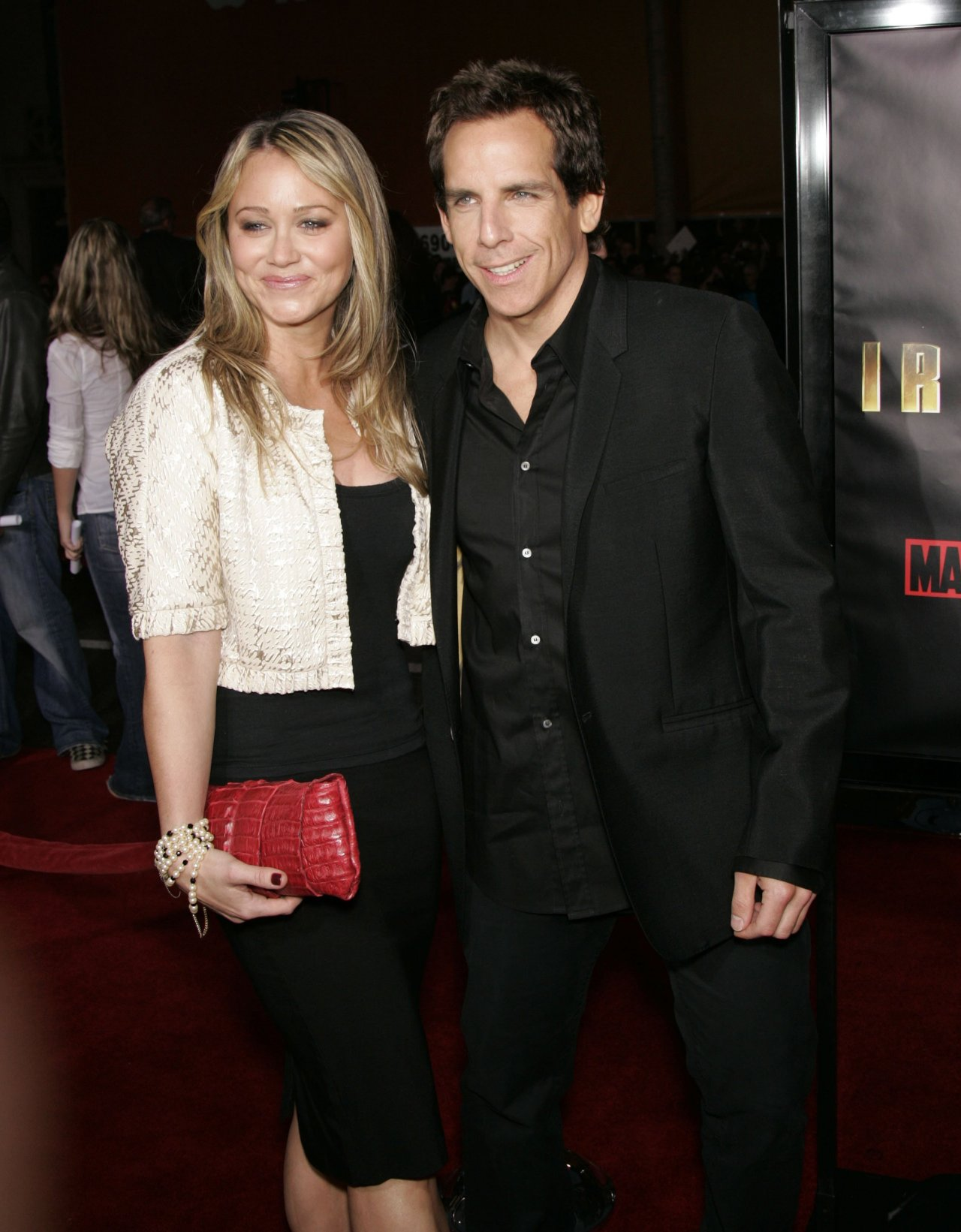 Christine Taylor with Her Husband