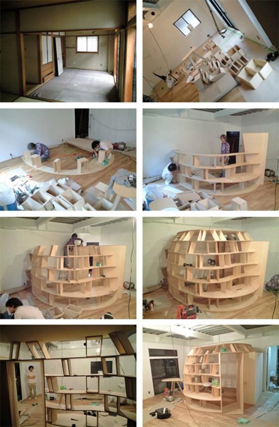 Creative Bedroom Bookcase