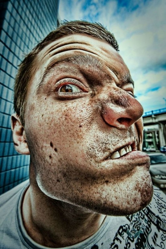 HDR face