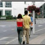 couples in the street