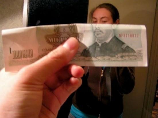 illusions using money