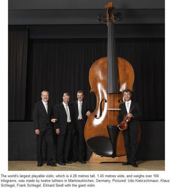 The Worlds Largest Playable Violin