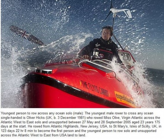 Youngest person to row across any ocean solo