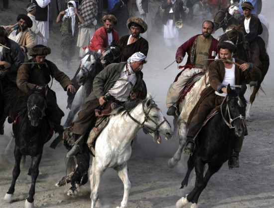 Goat Dragging or Buzkashi