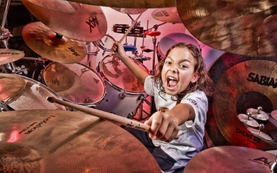 The youngest professional drummer is Julian Pavone (USA)