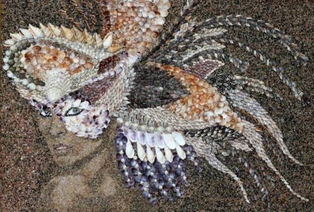 Beautiful Mosaics of Sand and Shells
