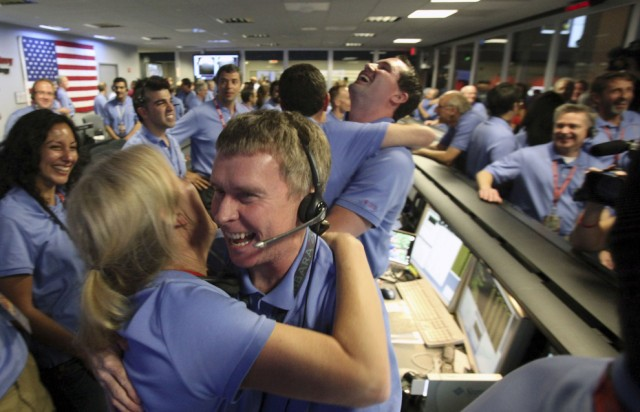 Curiosity Control Room celebrates