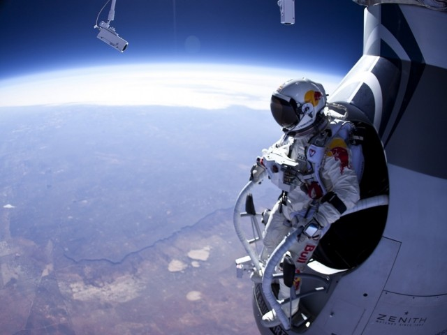 Felix Baumgartner's 24-mile free-fall from space