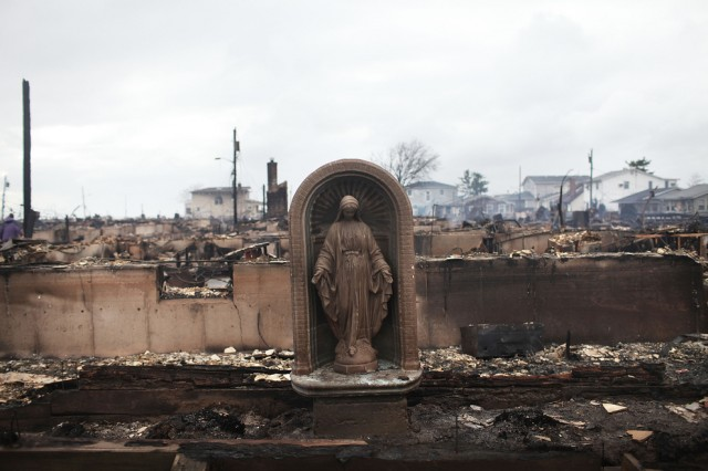 The Virgin Mary left standing in Breezy Point Queens