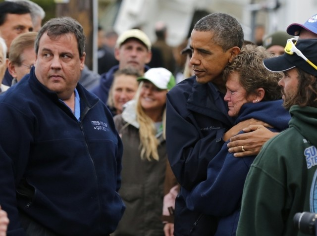 The governor of New Jersey and the president coming together after Hurricane Sandy