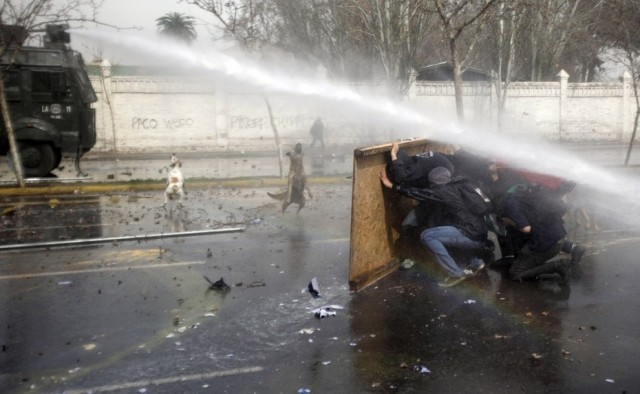 The student riots in Chile