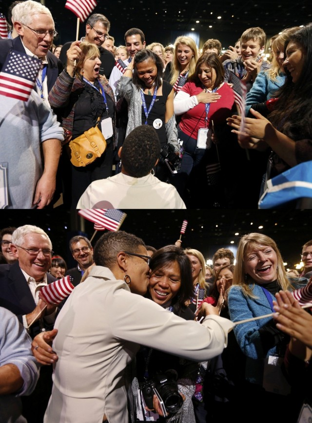 Two women from Maryland getting engaged on election night
