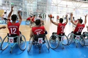 Members of the Afghan national wheelchair