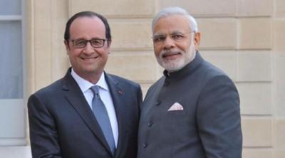 Rencontre Modi-Hollande en Inde
